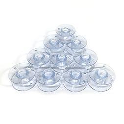 Cutex  Brand 10 Plastic Bobbins For Husqvarna Viking Emerald