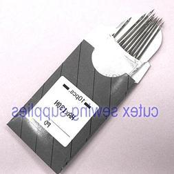 10 Titanium HAX130N Top-Stitching Flat Shank Home Sewing Machine Needles