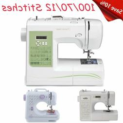 100/70/12 Stitches Mini Desktop Electric Household Sewing Ma