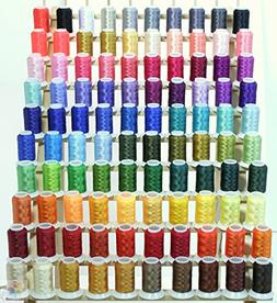 100 Brother or Babylock Colors Cones Polyester Embroidery Th