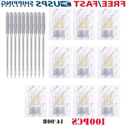 100pcs Assorted Home Sewing Machine Needles Craft for Brothe