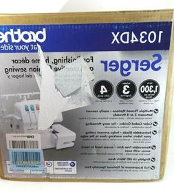 Brother 1034DX Serger Sewing Machine 3/4 Thread  w Different