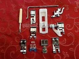 11 pc Low Shank Sewing Machine Feet Set Brother XL, Kenmore
