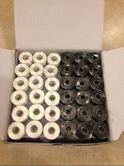 144 black white prewound bobbins for brother