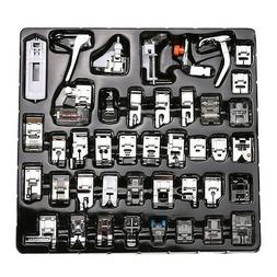 15/48/62pcs Domestic Sewing Machine Presser Foot Feet for Br