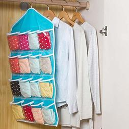 16-Pocket Over Door Hanging Bag Shoe Rack Hanger Storage Tid