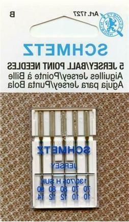 Schmetz 1727 Jersey Ballpoint Sewing Machine Needles Size 13
