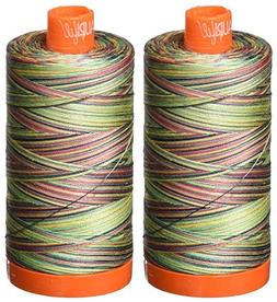 2-Pack - Aurifil 50WT - Marrakesh  Variegated - Mako Cotton