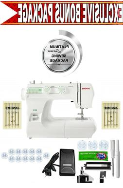 Janome 2212 Sewing Machine w/ Exclusive Platinum Series Sewi