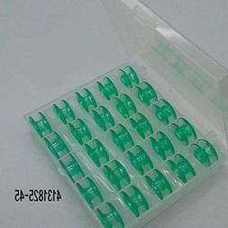 25 Green bobbins In Box for Viking Husqvarna sewing machines