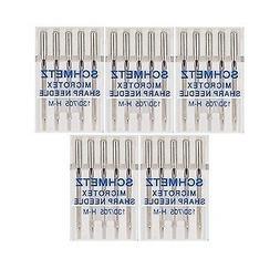 25 Schmetz Microtex Sharp Sewing Machine Needles 130/705 H-M