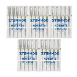25 Schmetz Stretch Sewing Machine Needles 130/705H H-S Size