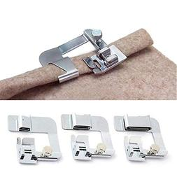 ANYQOO 3 Sizes Rolled Hem Pressure Foot Sewing Machine Press