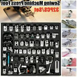 32pcs Domestic Sewing Machine Presser Foot Feet Set for Brot