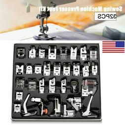 32pcs Metal Domestic Sewing Machine Presser Feet Set for Bro