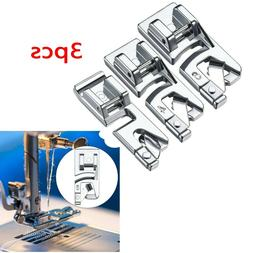 3Pcs/Set Domestic Sewing Machine Foot Presser Rolled Hem Fee