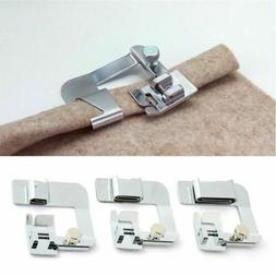 Sewing Machine Presser Foot Rolled Hem Feet Set for Brother