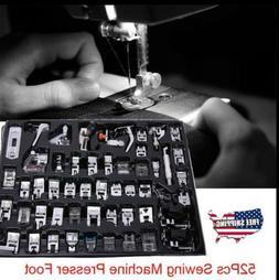 42-52Pcs Domestic Sewing Machine Foot Presser Feet Set For B