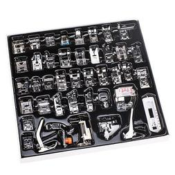 42pcs Domestic Low Shank Sewing Machine Presser Feet Set for