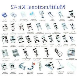 42PCS Domestic Sewing Machine Foot Presser Feet Set For Brot