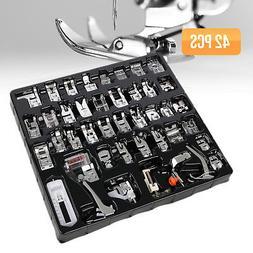 42PCS Sewing Machine Presser Foot Feet Tool Kit Set For Brot