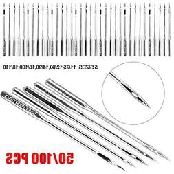 50/100 Assorted Home Sewing Machine Needles Craft for Brothe