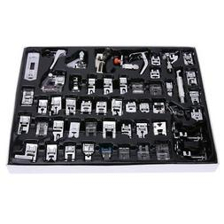 52 PCS Domestic Sewing Machine Foot Presser Feet Set for Bro