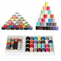 NEX 60 Piece Small Sewing Thread Kit for Sewing Machine, Mix