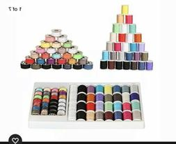 NEX 60 Piece Small Sewing Thread Kit for Sewing Machine Mixe