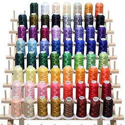 New 63 Brother Colors Embroidery Thread Set 40wt Polyester T