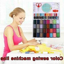 64 Rolls Sewing Machine Line thread Spool Set Bobbin Cotton