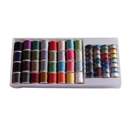 Assorted 60 Tubes Spools Polyester Sewing Machine Thread Yar