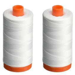 Aurifil A1050-2024 Mako Cotton Thread Solid 50WT 1422Yds Whi