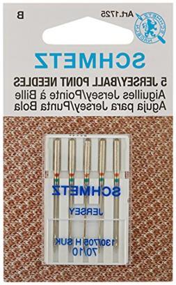 Ball Point Jersey Machine Needles-Size 10/70 5/Pkg