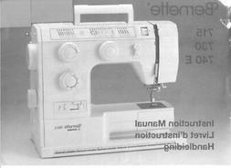 Bernina Bernette 715 730 740E Sewing Machine Owners Instruct