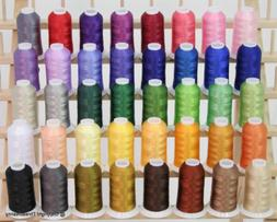 New Brother 40 Colors Embroidery Thread Set 40wt Polyester T