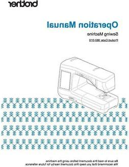 Brother Innov-is VQ2400 Embroidery Sewing Machine Manual Use
