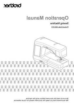 Brother Innov-is VQ2400 Sewing Machine Owners Instruction Ma