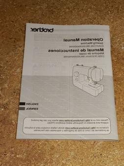 Brother JX2517 Sewing Machine Owners Instruction Operation M