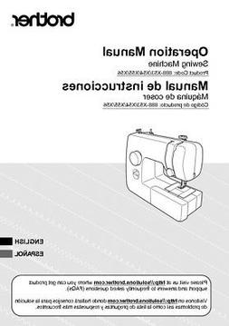 Brother JX2517 Sewing Machine Owners Instruction Manual Repr