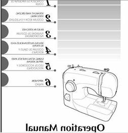 Brother XL2600i  Sewing Machine Instruction Manual Users Gui