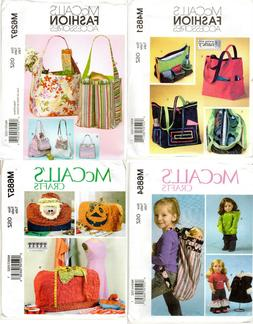 CHOICE: McCALL'S Craft Sewing Patterns for Bags Totes Sewing