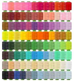 Clan-X 96 Colors Thread for Sewing and Embroidery, Polyester