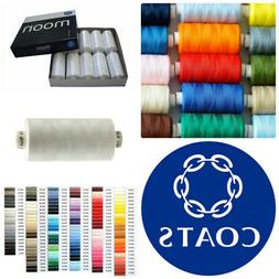 Coats Moon Sewing Machine Polyester Overlocking Thread Cotto