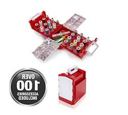 Smartek Compact Foldaway Sewing Box Kit RX-24C,Over 100 piec