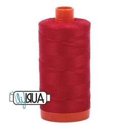 Aurifil Cotton Mako Thread 50 Weight 1422 Yards Red
