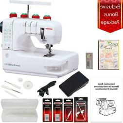 Janome Cover Pro 1000CPX Coverstitch Machine with Exclusive
