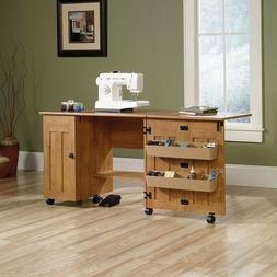 Craft Table Sewing Machine Storage Cabinet Shelves Drop Leaf
