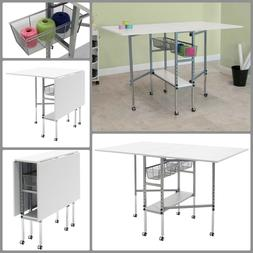 Craft Table With Storage Drawers Folding Sewing Machine Tabl