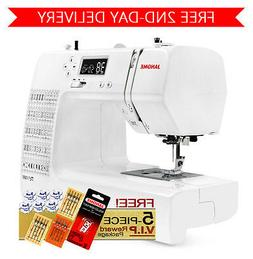 Janome DC1050 Computerized Sewing Machine w/ 5-Piece Package